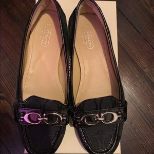 Coach Black Eloise Leather Loafers in Box